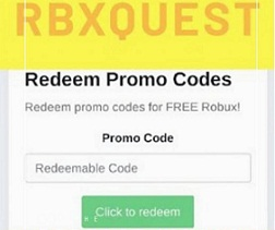 get Rbxquest free robux promo codes